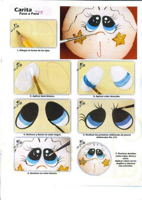 como pintar ojos de munecas dibujos y plantillas para imprimir pintado ojos de