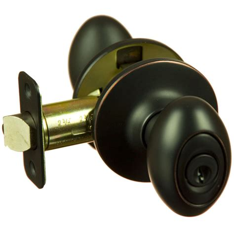 Front Door Knobs by Hensley Rubbed Bronze Keyed Entry Egg Door Knob Front Back Ebay