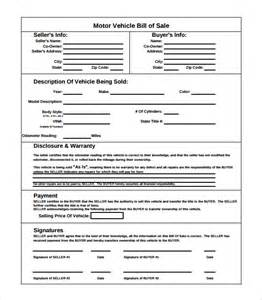 car bill of sale word template sle vehicle bill of sale 13 free documents