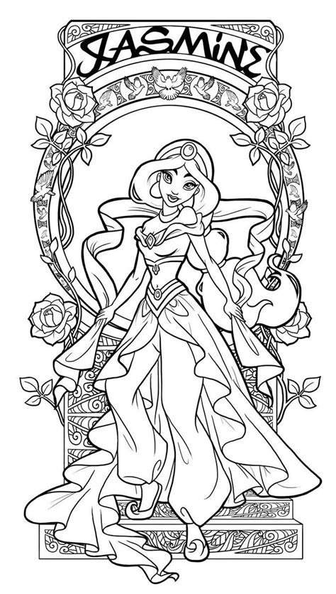 pin  stephanie cook  coloring pages disney princess