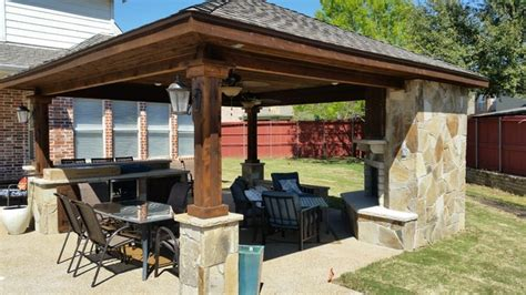 Rustic Patio Covers by Bmr Pool And Patio Patio Covers Rustic Patio Dallas