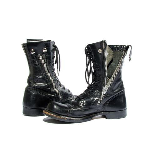 combat boots for vintage bates combat boots gear zipper sides cap toe