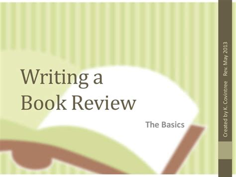 Write A Review On Books by Writing A Book Review Revised Ed