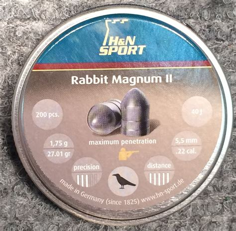 Rabbit Magnum Cal 22 h n rabbit magnum ii 22 cal pellets 1 64g 25 31gr gt 40j for