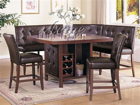Bravo 6 Piece Dining Set Counter Height Corner Seating 2 Corner Dining Set With Chairs