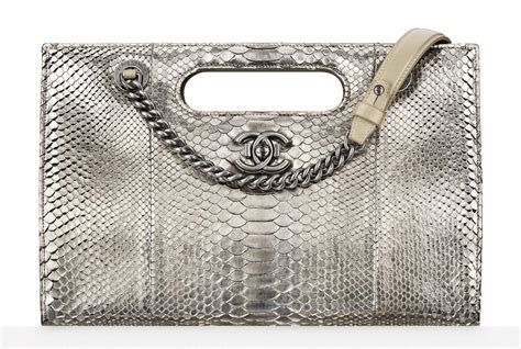 Chanel Metallic Python Bag by Chanel Just Released A Pre Collection Fall 2016