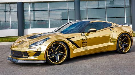corvette stingray gold dub magazine gold wide corvette on forgiatos