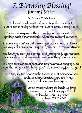 My Birthday Prayer Quotes A Birthday Blessing For Sister Birthdays Happy And To Day