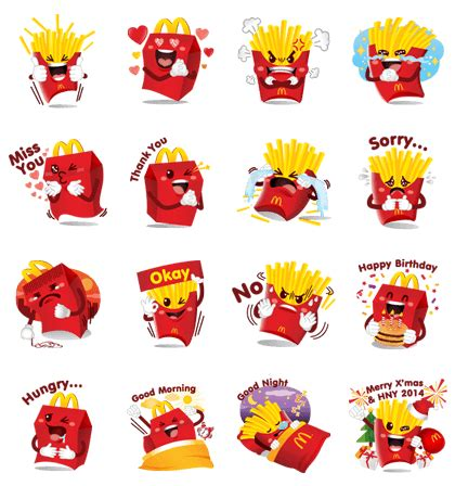 Mcdonalds Stickers mcdonald s line stickers