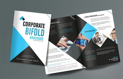 corporate bifold brochure design templates freedownload