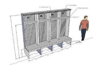 mudroom dimensions diy mudroom lockers mud room pinterest