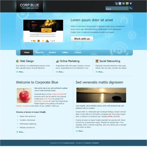 templates for website download free html image gallery html website templates