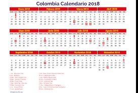 Calendario 2019 Colombia Festivos Calendario 2018 Colombia Archives Free
