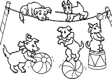 coloring pages of carnival games dog circus at carnival coloring pages best place to color