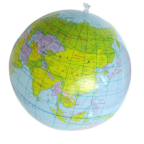 cm inflatable world globe teach education geography toy