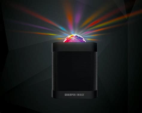 speakers with lights bluetooth speaker with led light from sharper image
