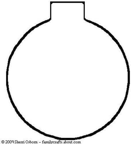 christmas ornament outlines printable best photos of ornament templates to print free printable ornament templates