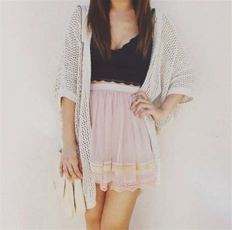 Tunic Blouse Girly Pastel skirt tank top sweater pastel clothes