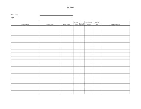 best photos of call tracking sheet template sales call