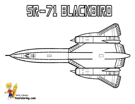 blackbird jet coloring pages mighty military airplane coloring fighter jets free