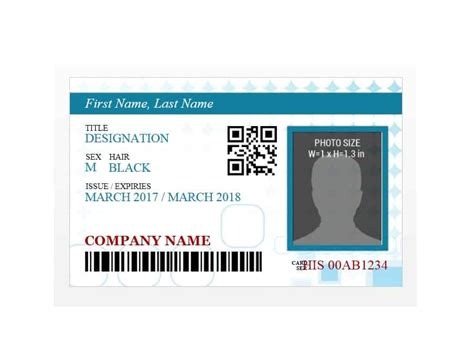 id card template 50 id badge id card templates free template archive