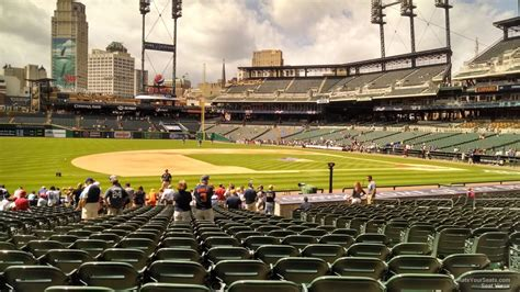 section 119 comerica park field level infield comerica park baseball seating