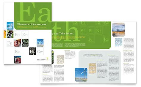 agriculture brochure templates environmental agricultural non profit brochure template