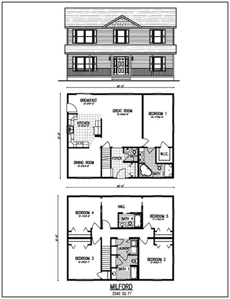 two story house blueprints beautiful 2 story house plans with level floor plan