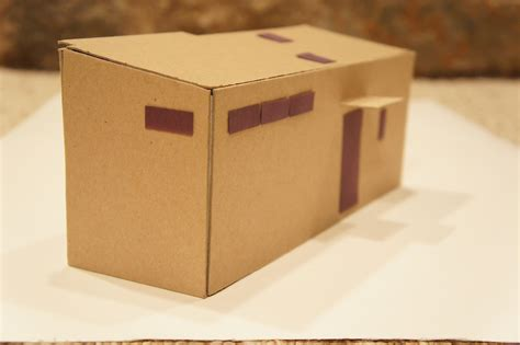 cardboard house teeny tiny cardboard house processhouse