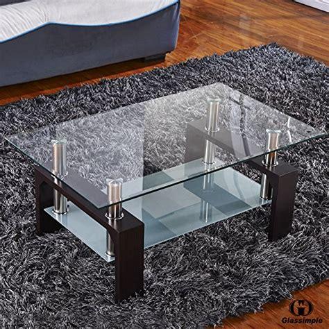 virrea rectangular glass coffee table virrea rectangular glass coffee table shelf wood living