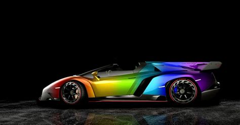 rainbow lamborghini lamborghini veneno roadster rainbow mega wallpapers
