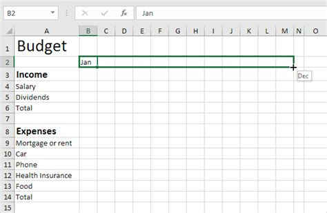how to make a home budget plan budget template in excel easy excel tutorial