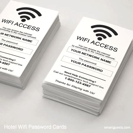 password card template smartguests hotel marketing customer service tools