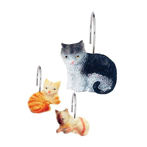 cat shower curtain hooks the purrfect gifts for cat lovers