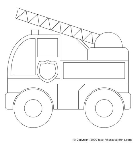 preschool coloring pages trucks image detail for preschool fire truck coloring pages