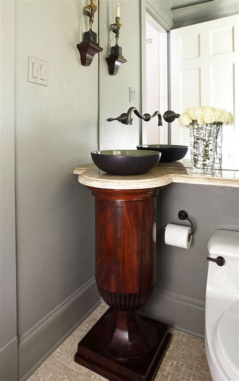 small pedestal sinks for powder room traditional spanish and spanish colonial houses on pinterest