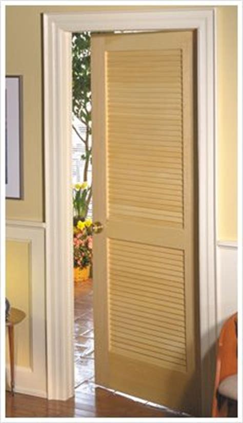 Full Louver Unfinished Pine Interior Door Slab Basement Slatted Interior Doors
