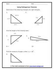 pythagoras worksheet humorholics