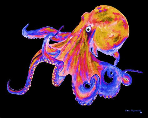 what color are octopus octopus color pop painting by ken figurski