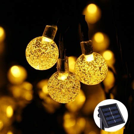 qedertek solar outdoor string lights 20ft 30 led