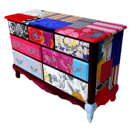 Fabric Chest Of Drawers by Patchwork Fabric Chest Of Drawers Funky Decoration