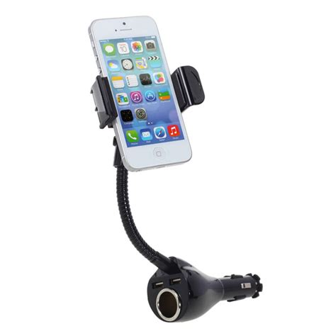cigarette lighter port with dual usb car phone charger