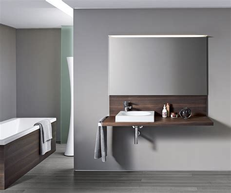 Duravit Delos Vanity by Delos Console With Back Panel Vanity Units From Duravit