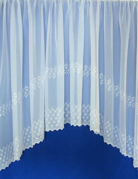 jardiniere curtains uk charlton white embroidered jardiniere net curtain 2 curtains