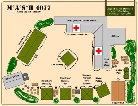 Entertaining House Plans by Mash 4077th Camp Layout Stage 9 M A S H Pinterest