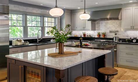 harbor gray kitchen cabinets  stratham nh kountry