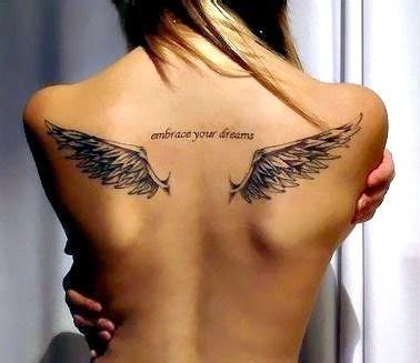 tattoos angel wings name middle upper back tattoo back angel wings tattoos pinterest