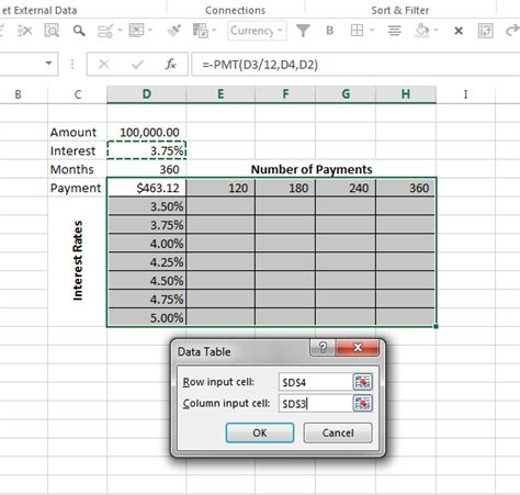 4 Variable Table by Create A Variable Payment Table In Excel Excel Bytes