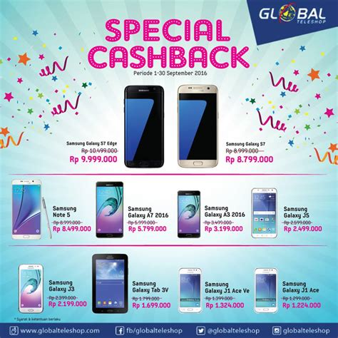 Hp Samsung Okeshop Promo Samsung Galaxy Terbaru 2016 Di Global Teleshop Dan