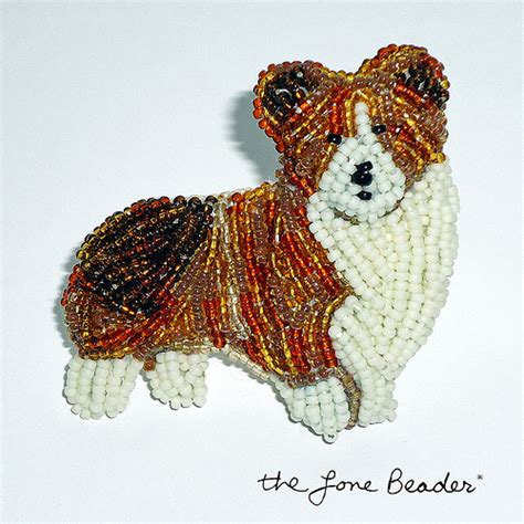 necklaces for humans corgi bead embroidery pin royal beaded jewelry for humans flickr photo